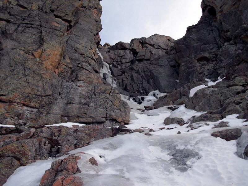 The upper gully.