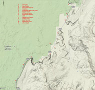 Rock Climbing Photo: Major climbs and areas