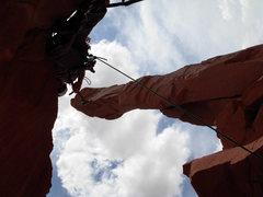 Rock Climbing Photo: costas flipping me off