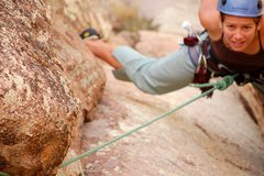 Rock Climbing Photo: Near the top of Green Dagger @ Granite Mountain. T...