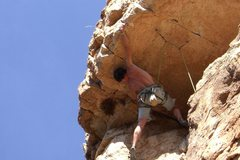 Rock Climbing Photo: Dan starting Super guy