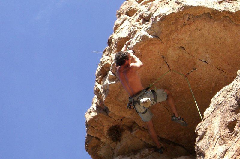 Rock Climbing Photo: Making the cross look easy.