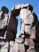 Rock Climbing Photo: Devils doorway at devils lake wisconsin