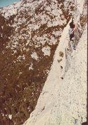 Rock Climbing Photo: Tahquitz, friend Ken Chaffee cleaning