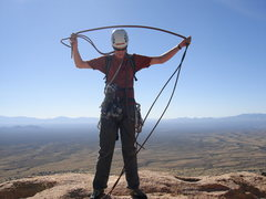 Rock Climbing Photo: Coiling up the rope after a fun route on the Sheep...