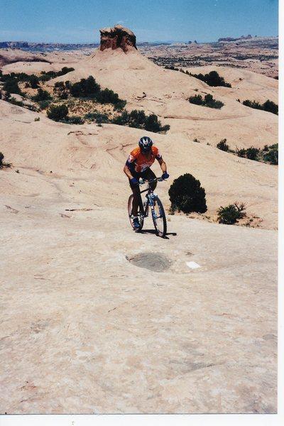 Slickrock climbing...Utah