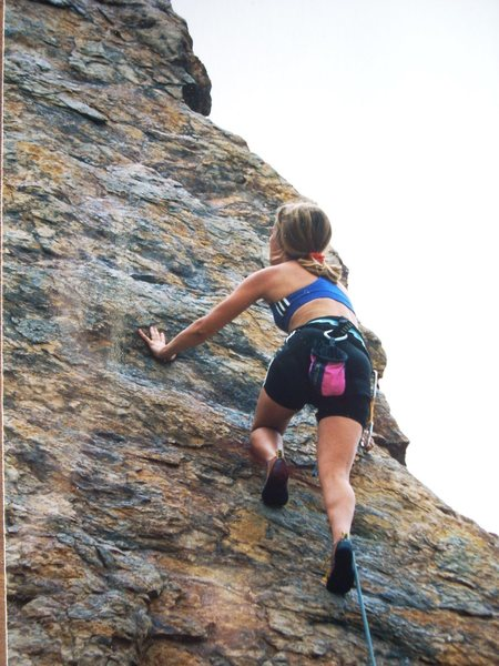 I can watch ladies climb all day long...