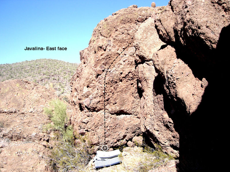 Javalina Cave- East face<br> 1. Japanther