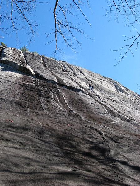 Rock Climbing Photo: Paralleling...Ryan on P2. Paul and me cowering at ...
