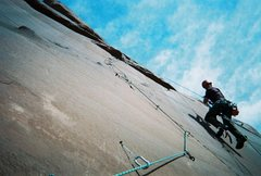 Rock Climbing Photo: Jugging at the top