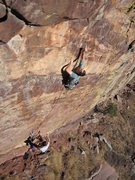 Rock Climbing Photo: Scott Bennett at the second clip with Rob Kepley b...