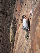 "Rock Climbing Photo: Rob Kepley just after making the signature ""h..."