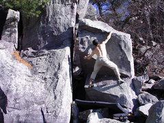 Rock Climbing Photo: To the lip.
