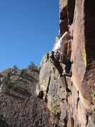Rock Climbing Photo: Rob Kepley styling out the finish.