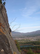 Rock Climbing Photo: Climber on Hotter Then Hell. Taken from the adjace...