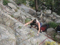Rock Climbing Photo: First time..