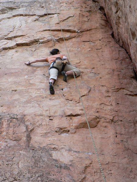Rock Climbing Photo: Working on Suburbia