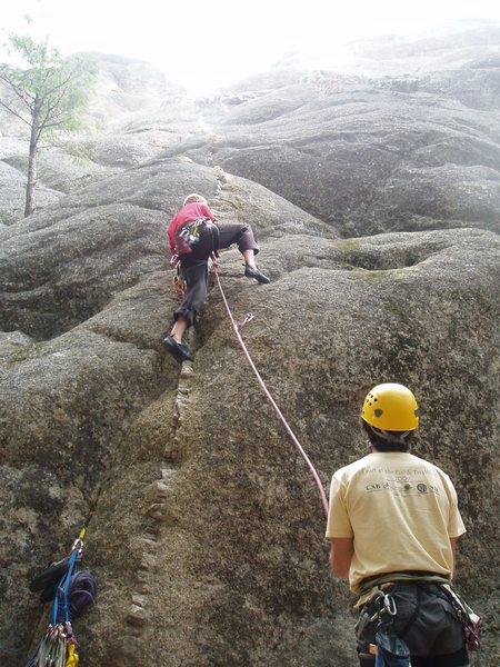 Ryan going up dike's edge