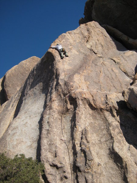 Rock Climbing Photo: Magazine cover boy Rico Miledi on the crux.