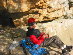 Rock Climbing Photo: Fred Beckey at the start of The Offering.