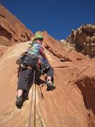 Rock Climbing Photo: Pat starting third pitch