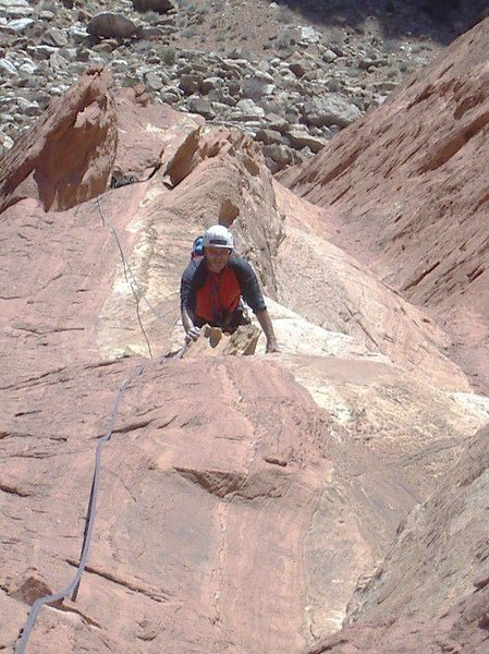 Looking down the third pitch