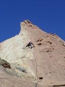 Rock Climbing Photo: Paul on pitch 5.photo Pat Moe
