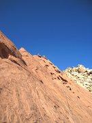 Rock Climbing Photo: Pat near top