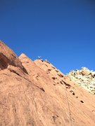 Rock Climbing Photo: Pat on top of the climb