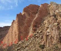 Rock Climbing Photo: The climbs:-A) 1200'of More Fun 5.7 B)1000'of Fun ...