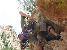 Rock Climbing Photo: MD on Wind Ridge.