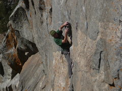 Rock Climbing Photo: Starting the crux sequence. Photo: Clayton Laramie...