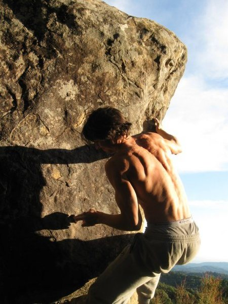 Rock Climbing Photo: Achilles Lauro at Klinghoffers Area, Castle Rock S...