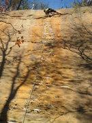 Rock Climbing Photo: Beginning the final thin boulder problem below the...