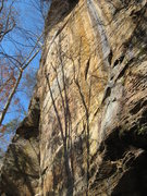 Rock Climbing Photo: Side view of the Appalachian Spring/Seppuku buttre...