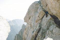 Rock Climbing Photo: Grand Traverse on the Owen Spaulding. Anne Mariah ...