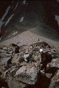 Rock Climbing Photo: Heading down the Grand Teton.