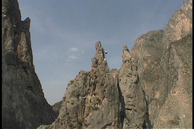 Rock Climbing Photo: Jeff Wermer the spires in El Potrero Chico.