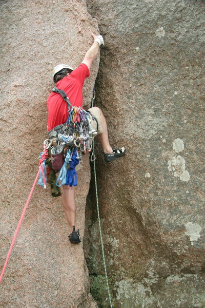 MD on Middle Crack, Enchanted Rock Texas.