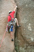 Rock Climbing Photo: MD on Middle Crack, Enchanted Rock Texas.