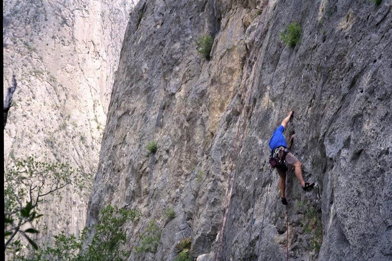 On the Mota Wall, El Potrero Chico.