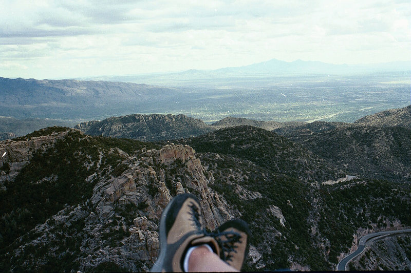 Rock Climbing Photo: Relaxing after Mean Mistreater, Mt. Lemmon.