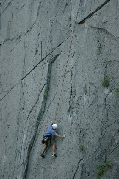 MD on Pentinente, Virgin Wall, El Potrero Chico.