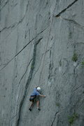 Rock Climbing Photo: MD on Pentinente, Virgin Wall, El Potrero Chico.