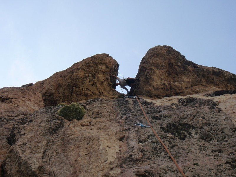 Rock Climbing Photo: turning around in the wash out gives you a great v...