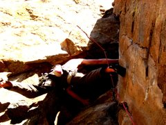 Rock Climbing Photo: 5.10d start. There's a no hands rest here. My phot...