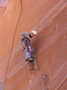 Rock Climbing Photo: At the crux on Trisstin's Tower.  After cramming a...