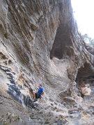 Rock Climbing Photo: Starting up 8 Ball.