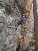 Rock Climbing Photo: Beginning up Swahili Slang, just above the crimp m...