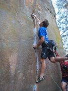 Rock Climbing Photo: ...stuck.